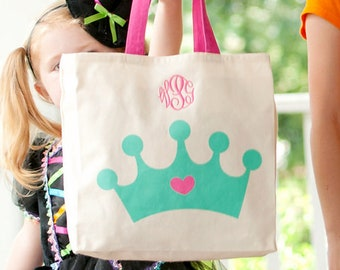 Crown Character Tote, Monogrammed Tote Bag, Personalized Bag