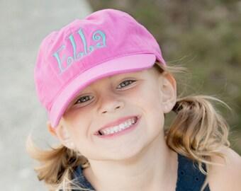 Kids Monogram Cap - Pink