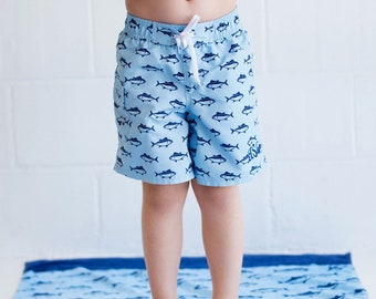 Size 2T-3T Finn Boys' Swim Trunks, Personalized Boys Swimwear