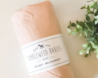 Flannel Receiving Blanket Large lined cotton blanket Puppet Doll Blanket