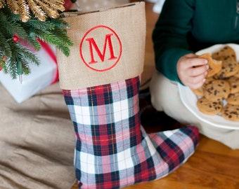 Winter Plaid Christmas Stocking