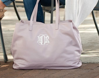 Cambridge Travel Bag in Blush, Large Personalized Weekender Bag