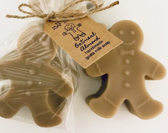 Featured listing image: Gingerbread Man Scented Soap for Christmas, Personalized Stocking Stuffer