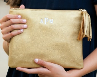Gold Kendall Purse, Personalized Bag