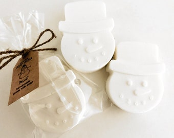 Snowman Scented Soap for Christmas, Personalized Stocking Stuffer