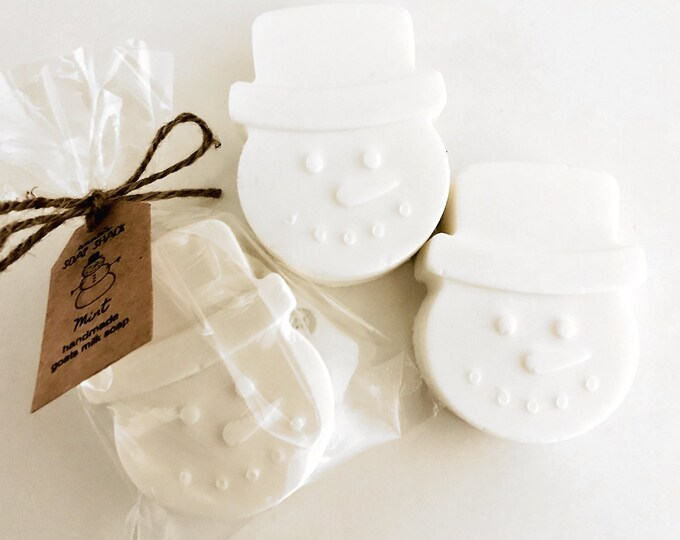 Featured listing image: Snowman Scented Soap for Christmas, Personalized Stocking Stuffer