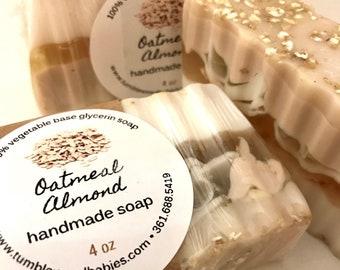 Oatmeal Almond Glycerin Soap, Handmade Soap, Natural Soap