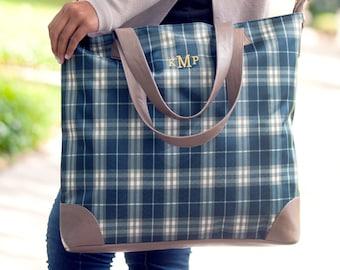 Middleton Plaid Personalized Shoulder Bag