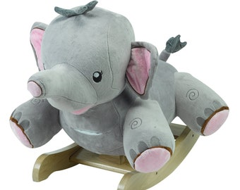 Rosie The Elephant Plush Musical Rocker (Optional Personalization)