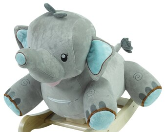 Stomp The Elephant Plush Musical Rocker (Optional Personalization)