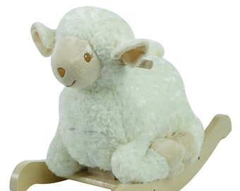 Lambkin The Lamb Plush Musical Rocker (Optional Personalization)