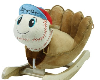 Homer Baseball Plush Musical Chair Rocker (Optional Personalization)