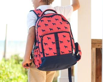 Dog Days Boys Monogrammed Backpack, Monogram Book Bag, Back to School