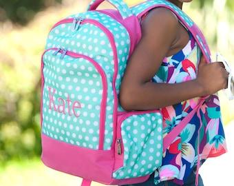 Hadley Bloom Girls Monogrammed Backpack, Monogram Book Bag, Back to School
