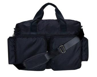 Black Deluxe Duffel Diaper Bag