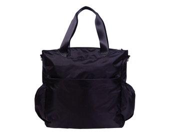 Black Tote Diaper Bag
