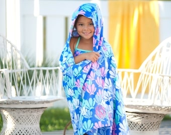 Mer-mazing Kids Hooded Beach Towel, Personalized Beach Towel, Monogram Towel