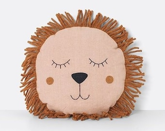 Safari Lion Pillow Rose