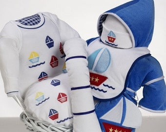 Sail Away Baby Boy Gift Basket
