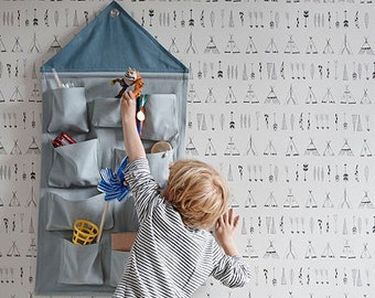 House Wall Storage - Blue