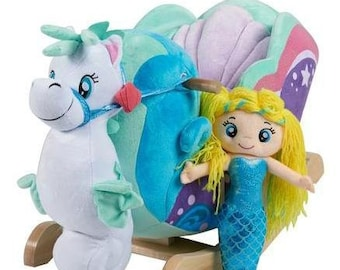 Mermaid Princess Plush Musical Rocker (Optional Personalization)