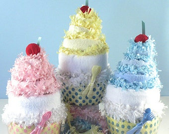 Delicious Diaper Cupcake Baby Gift