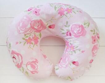 Rosebud Floral Nursing Pillow Cover
