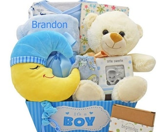 Over The Moon For You Baby Boy Gift