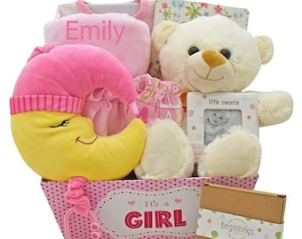Over The Moon For You Baby Girl Gift