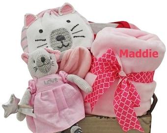 Beautiful Kitty Baby Girl Gift Basket