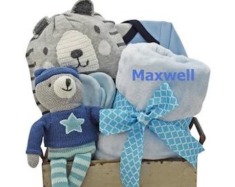Bouncing Boy Baby Bear Gift Basket