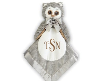 Owl Personalized Lovie Blanket for Baby, Baby Gift