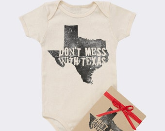 Don't Mess With Texas Organic Baby Onesie