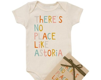 There's No Place Like - Personalized Organic Baby Onesie
