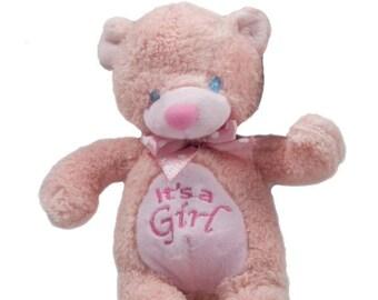 It's A Girl Plush Teddy Bear Toy