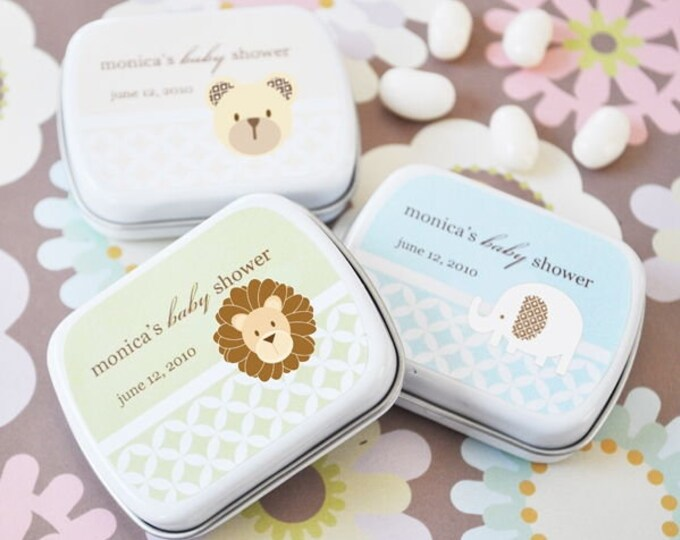 Featured listing image: Baby Animals Personalized Mint Tins
