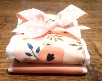 Just Peachy Burp Cloth Set