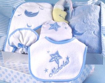 Reach for The Stars Personalized Layette Baby Boy Gift
