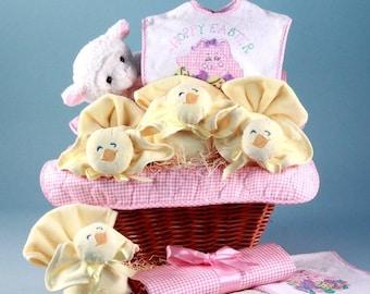 Easter Baby Gift Basket - Pink
