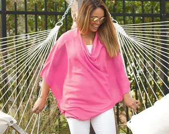 Hot Pink Chelsea Poncho with Optional Monogram