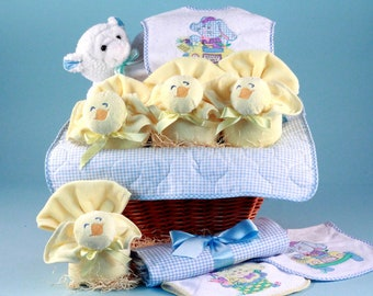 Easter Baby Gift Basket - Blue