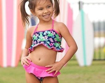 Tropi-Cool Girl's Swim Set, Monogram Swim Set for Girls