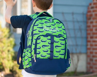 Later Gator Boys Monogrammed Backpack, Monogram Book Bag, Back to School