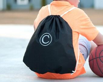 Black Monogrammed Gym Bag, Monogram Backpack, Back to School