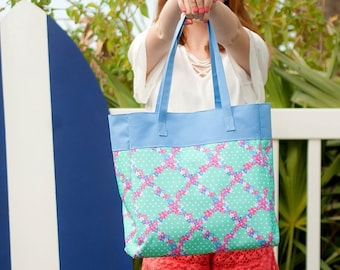 Penelope Monogrammed Tote Bag, Personalized Bag