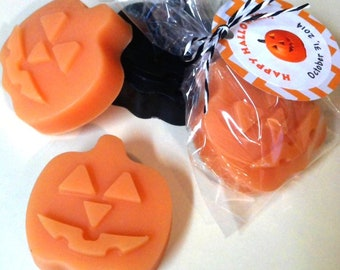 Jack O' Lantern Halloween Scented Soap, Personalized Favor Gift