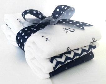 Anchors Away Burp Cloth Set - 3 Pack