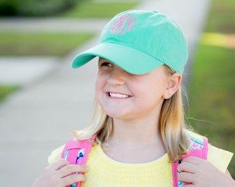 Kids Monogram Mint Cap