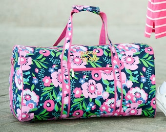 Posie Monogrammed Duffel Bag, Personalized Bag