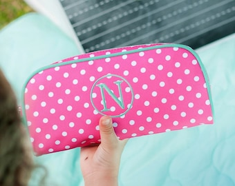 Dottie Girls Monogrammed Pencil Pouch, Back to School